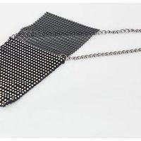 Black Diamanté Chainmail Cross Body Bag New Look