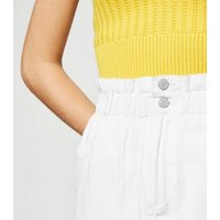 White High Waist Denim Skirt New Look