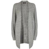 Grey Ribbed Knit Batwing Cardigan New Look
