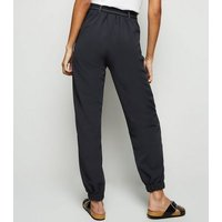 Black Contrast Stitch Utility Joggers New Look