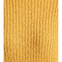 Mustard Longline Jumper New Look