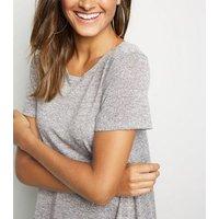 Grey Short Sleeve Swing Dress New Look