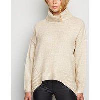 Cream Slouchy Roll Neck Batwing Jumper New Look
