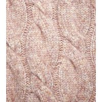 Pale Pink Cable Knit Jumper New Look