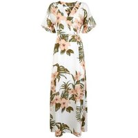 Mela Off White Tropical Floral Maxi Dress New Look