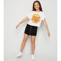 Girls Chupa Chups Logo Slogan T-Shirt New Look