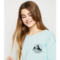 Girls Mint Green California Logo Sweatshirt New Look