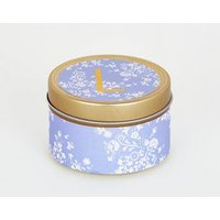 Gold Floral L Initial Tin Scented Candle New Look