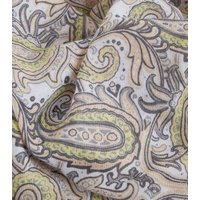 Mustard Paisley Print Longline Scarf New Look