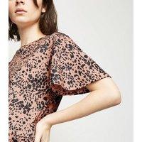 Brown Leopard Print Peplum Top New Look