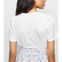 Petite White Sweet Like Honey Slogan T-Shirt New Look