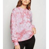 Pink Tie Dye Boxy Sweatshirt New Look
