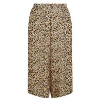 Curves Brown Leopard Print Crop Trousers New Look
