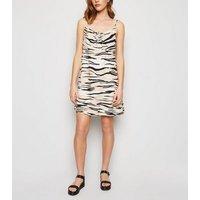 Brown Zebra Print Mini Slip Dress New Look