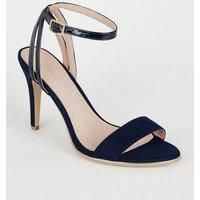 Navy Comfort Flex 2 Part Stiletto Heels New Look
