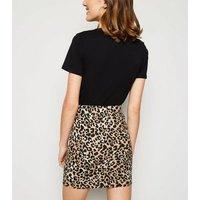 Brown Leopard Print Tube Skirt New Look