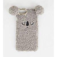Grey Faux Fur Koala Case for iPhone 6/6s/7/8 New Look