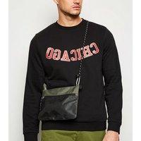 Men's Khaki Mesh Front Shoulder bag New Look