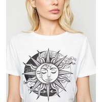 White Crew Neck Essential Slogan T-Shirt New Look