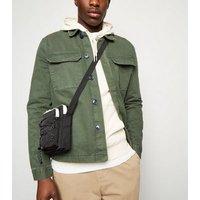 Black Drawstring Front Shoulder Bag New Look