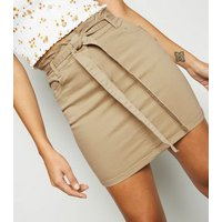 Stone Denim High Waist Mini Skirt New Look