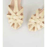 Cream-Woven-Straw-Effect-Caged-Sandals-New-Look