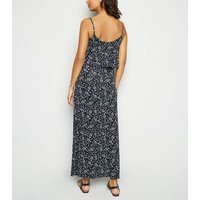 Maternity Multicoloured Floral Tiered Jersey Maxi Dress New Look