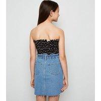 Girls Pale Blue High Waist Denim Skirt New Look