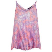 Pink Tropical Print Pleated Cami New Look