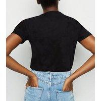 Black Bleach Wash T-Shirt New Look