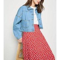 Cameo Rose Bright Blue Oversized Denim Jacket New Look
