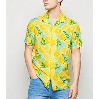 Yellow Lemon Short Sleeve Shirt New Look