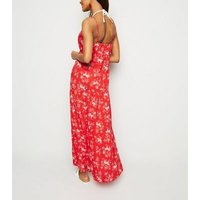 Red Tropical Print Beach Maxi Dress New Look