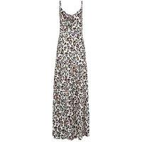 White Leopard Print Beach Maxi Dress New Look