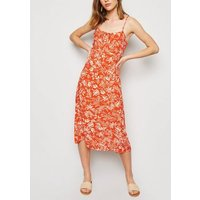 Orange Tropical Midi Dress New Look
