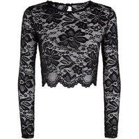 Carpe Diem Black Lace Backless Top New Look