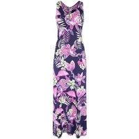 Mela Blue Tropical Maxi Dress New Look