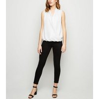 Apricot White Crossover Wrap Top New Look