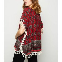 Apricot-Red-Paisley-Tassel-Trim-Top-New-Look