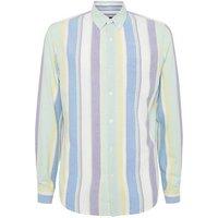 Multicoloured Vertical Pastel Stripe Long Sleeve Shirt New Look