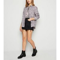 Pink Check Long Sleeve Shirt New Look