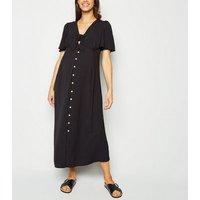 Maternity Black Tie Front Midi Dress New Look