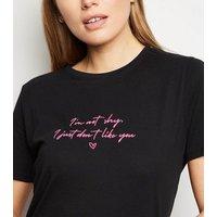 Black I'm Not Shy Slogan T-Shirt New Look