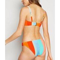 Multicoloured Stripe Hipster Bikini Bottoms New Look
