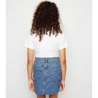 Blue Chain Belt Denim Mom Skirt New Look