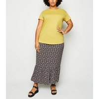 Curves Yellow Organic Cotton Oversized T-Shirt New Look