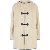 Blue Vanilla Stone Teddy Duffle Coat New Look