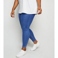 Curves Blue 'Lift & Shape' Jeggings New Look