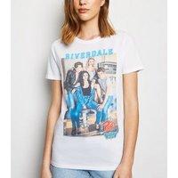 White Riverdale Photo Print T-Shirt New Look