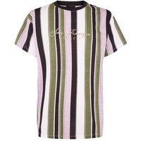Pink Vertical Stripe San Francisco Slogan T-Shirt New Look